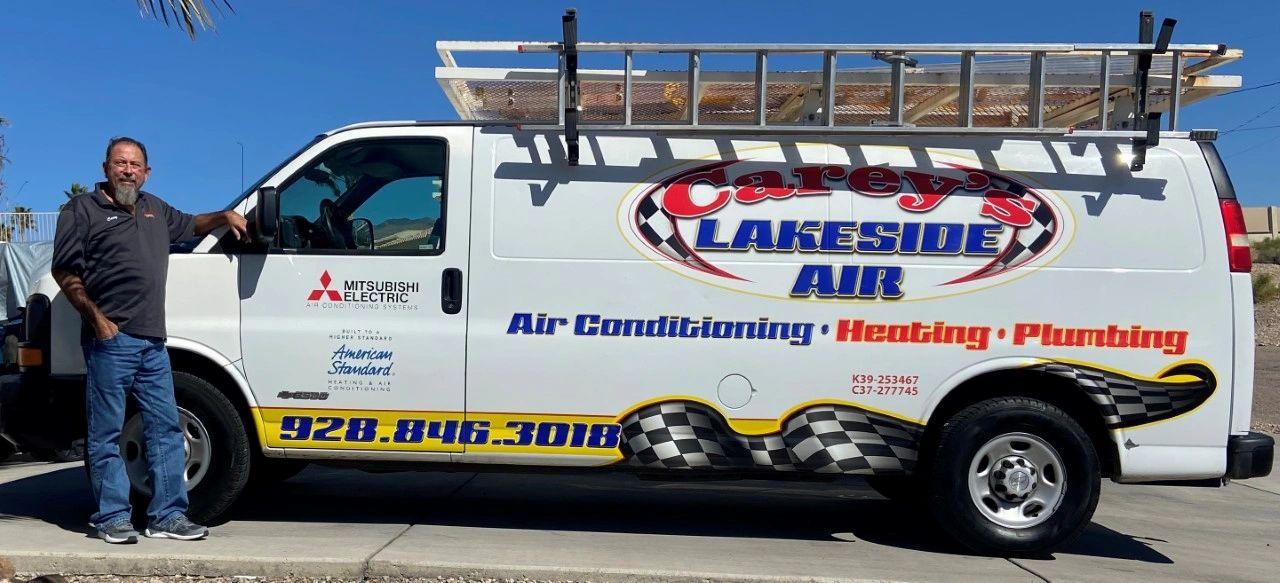 Carey's Lakeside Air Conditioning Heating & Plumbing logo