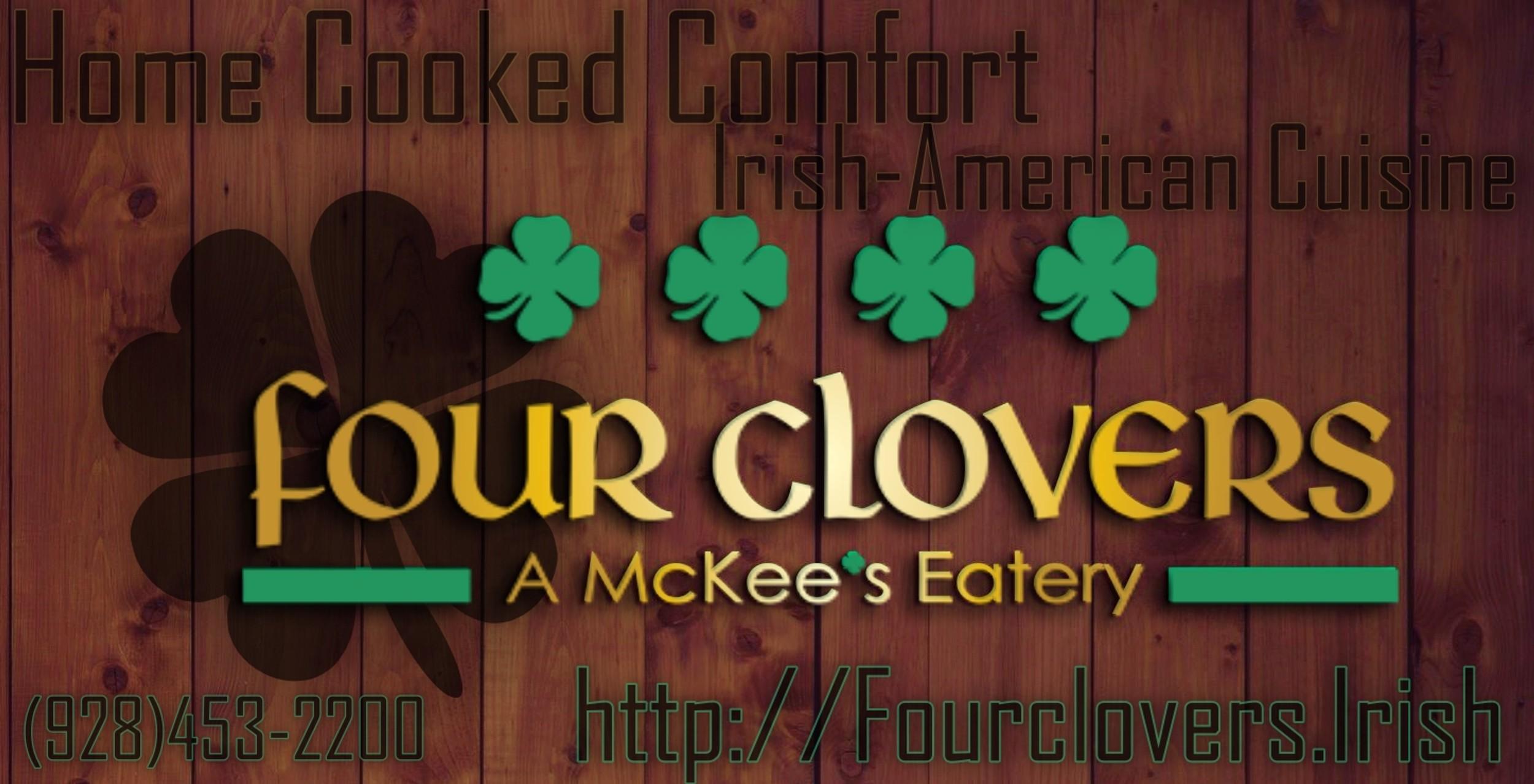 Four Clovers - A McKee's Eatery logo
