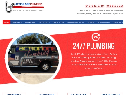 Action One Plumbing logo