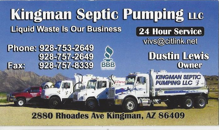 Kingman Septic Pumping, LLC logo