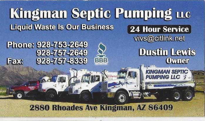 Kingman Septic Pumping, LLC logo