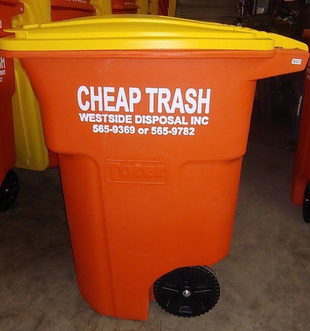 Westside Disposal is Cheap Trash logo