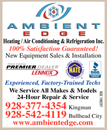 Yellow Pages Ad of Ambient Edge Heating / Air Conditioning & Refrigeration Inc