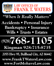 Print Ad of Law Offices Of Frank T Waters