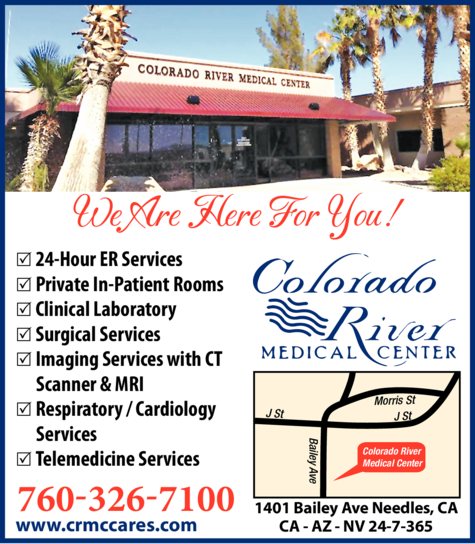 Yellow Pages Ad of Colorado River Medical Center