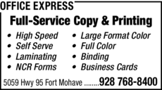 Yellow Pages Ad of Office Express