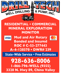 Yellow Pages Ad of Drill-Tech Inc Well Drilling & Pump