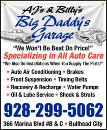 Print Ad of Aj's & Billy's Big Daddy's Garage