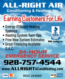 Yellow Pages Ad of All-Right Air Conditioning & Heating Inc