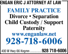 Yellow Pages Ad of Engan Eric J Attorney At Law