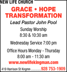 Yellow Pages Ad of New Life Church