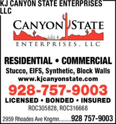 Print Ad of Canyon State Enterprises Llc