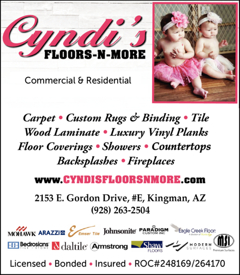 Yellow Pages Ad of Cyndi's Floors N More