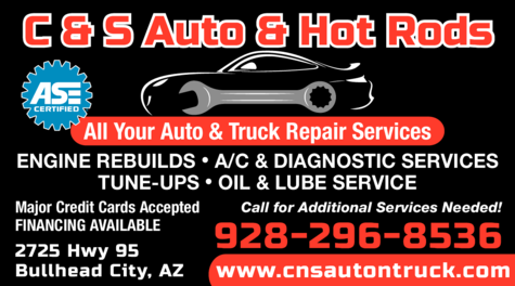 Yellow Pages Ad of C & S Auto & Hot Rods