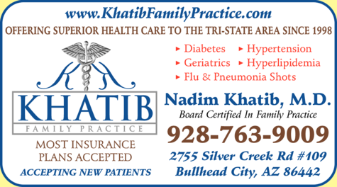 Yellow Pages Ad of Khatib Family Practice Plc