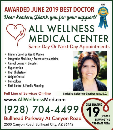Yellow Pages Ad of All Wellness Medical Center