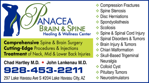 Yellow Pages Ad of Panacea Brain & Spine