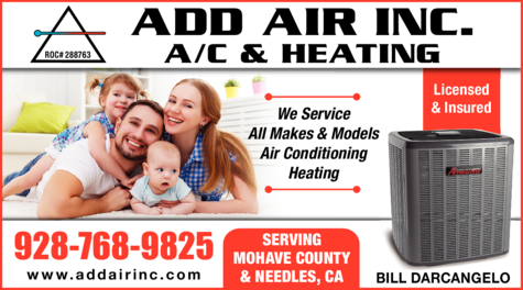 Yellow Pages Ad of Add Air Inc