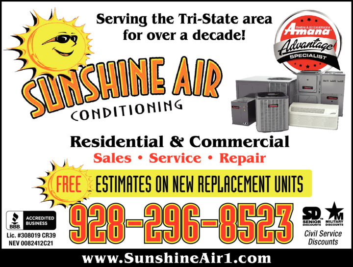 Yellow Pages Ad of Sunshine Air Conditioning