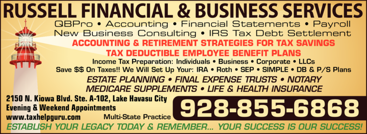 Print Ad of Russell Financial & Business Services