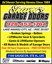 Yellow Pages Ad of Shaver's Garage Doors