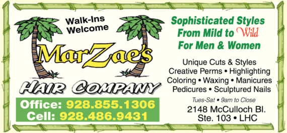Yellow Pages Ad of Marzae's Hair Company