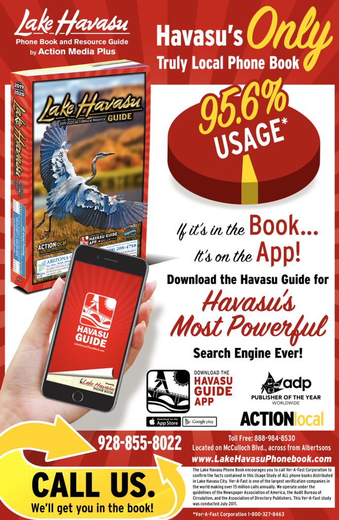 Yellow Pages Ad of Lake Havasu Phone Book - The Red Book
