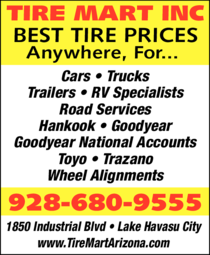 Yellow Pages Ad of Tire Mart Inc