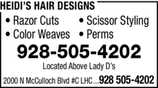 Yellow Pages Ad of Heidi's Hair Designs