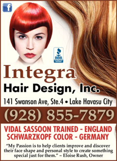 Yellow Pages Ad of Integra Hair Design