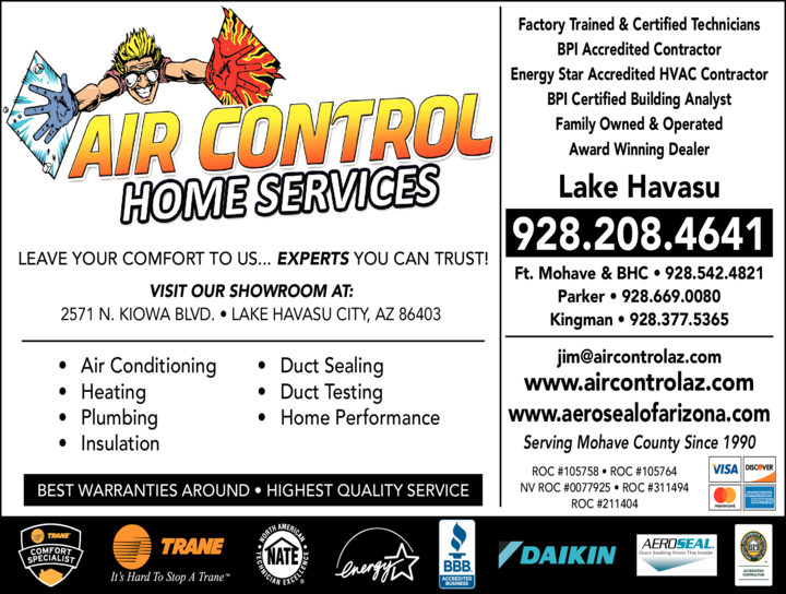 Yellow Pages Ad of Air Control Home Services