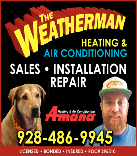 Yellow Pages Ad of Weatherman The