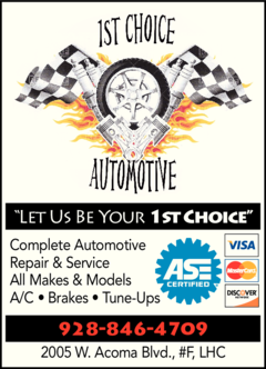 Yellow Pages Ad of 1st Choice Automotive