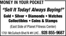 Print Ad of Money In Your Pocket