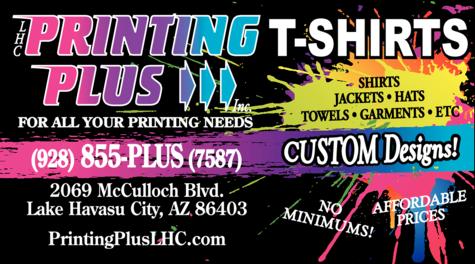 Print Ad of Printing Plus Inc