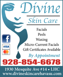 Yellow Pages Ad of Divine Skin Care