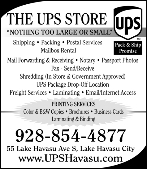Yellow Pages Ad of The Ups Store