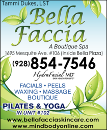 Yellow Pages Ad of Bella Faccia Skin Care & Pilates