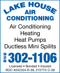 Yellow Pages Ad of Lake House Air Conditioning & Heating