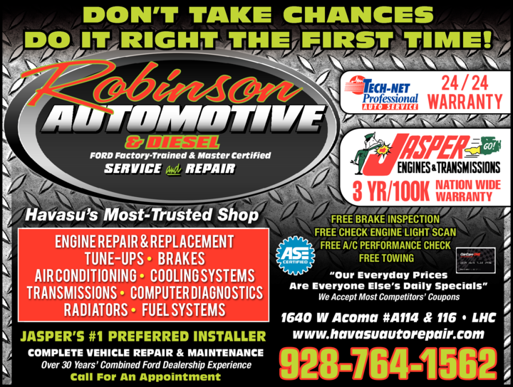 Print Ad of Robinson Automotive Service & Repair