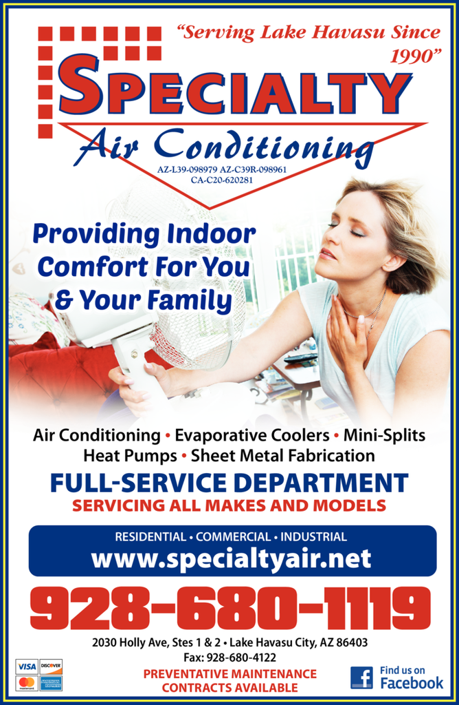 Yellow Pages Ad of Specialty Air Conditioning