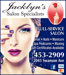 Yellow Pages Ad of Jacklyn's Salon Specialists
