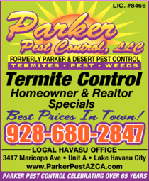 Print Ad of Parker Pest Control Llc