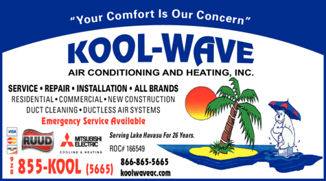 Yellow Pages Ad of Kool-Wave Air Conditioning & Heating Inc