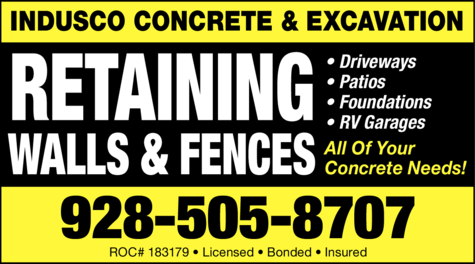 Print Ad of Indusco Concrete & Excavation