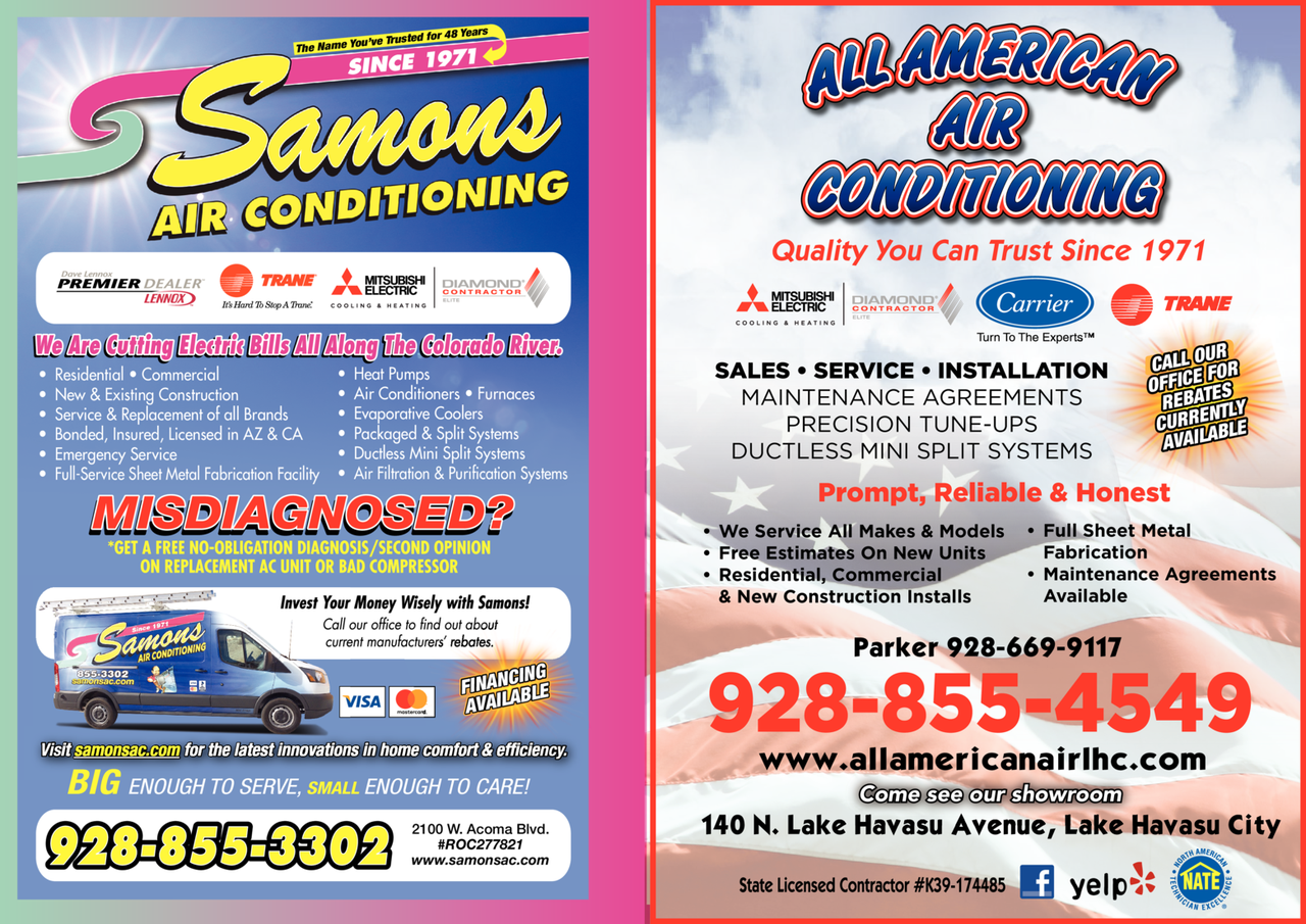 Yellow Pages Ad of All American Air Conditioning