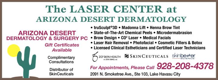 Yellow Pages Ad of Arizona Desert Dermatology & Surgery Pc