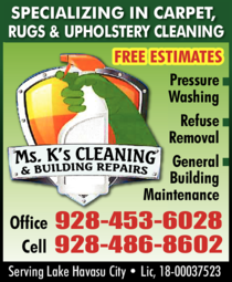 Yellow Pages Ad of Ms K'S Cleaning & General Maintenance