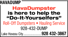 Yellow Pages Ad of Havadump