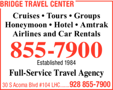 Print Ad of Bridge Travel Center